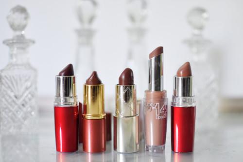 braune Lippenstifte brown lipsticks