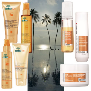 Get your Holiday Essentials: Nuxe & Goldwell Summerkits