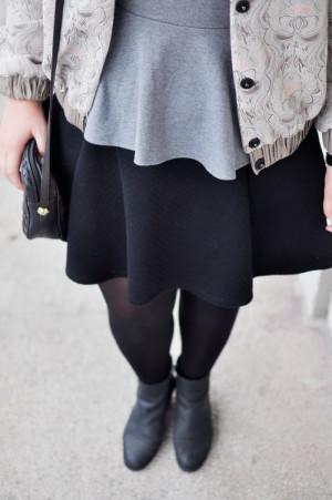 Outfit: Graurosa im Regen