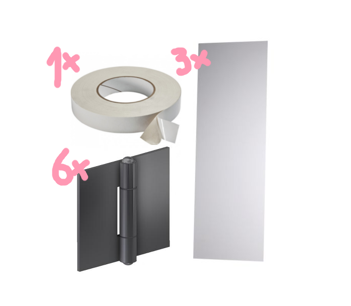 Diy mirror paravent amazed for Ikea minde mirror