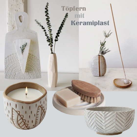 Töpfern zu Hause mit Keramiplast